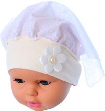 Baby Kopftuch Kopfbedeckung Kinder Mütze Stirnband Haarschmuck Taufe