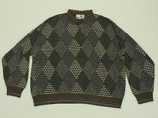 Florence TRICOT Polo Style Sweater XL Multi-color Cosby Acrylic VTG Argyle