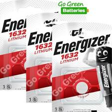 3 x Energizer 1632 CR1632 3V Lithium Coin Cell Battery DL1632 KCR1632, BR1632