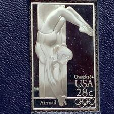 Franklin mint postage stamp sterling silver Olympics 1984 USA womens gymnastics
