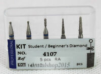 5pcs dental diamond burs Contra angle for low speed handpiece beginner