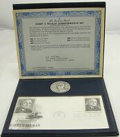 "Danbury Mint Sterling Harry S. Truman 1973 Presidential Commorative Medal 1 1/2"""