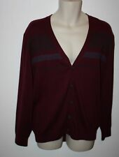 Alan Flusser 100% Cotton Button Front Striped Sweater Size XL Long Sleeve NEW