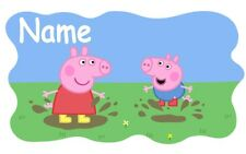 IRON ON TRANSFER personalised  Peppa pig muddy puddles 16x10cm