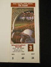 2001 Stanford vs. Washington State Football Ticket Stub (Sku1)