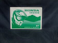 Honda XR200R OEM Owners Manual XR 200 Rare Genuine 1997 + Many more