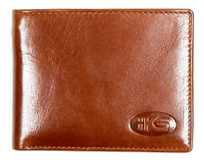 High Quality Italian Leather Men's Wallet Bi-fold, Trifold Black, Brown, Cognac