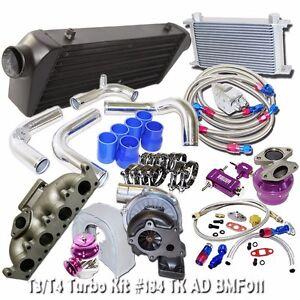 T3/T4 Turbo Kits+Oil Cooler Kit for 02-05 Audi A4 1.8T B6 FMIC Upgrade