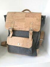 New, handmade Cork and Burel Backpack, Vegan Leather, Vegan bag, Eco Ideas