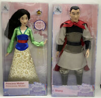 "Disney Store Mulan W/Ring Classic Doll & Li Shang Classic Doll12"" Set Mulan NEW"