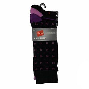 Hanes Premium Mens Assorted Dress Socks 3-Pack Shoe Size 6-12