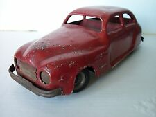 Vintage Chad Valley Harborne Estaño Wind Up maletero coche de 1940S/50S