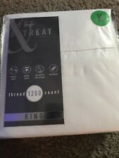 Rest + Retreat 1200 Thread Count Cotton Rich Blend Sheet Set White Brand NWT