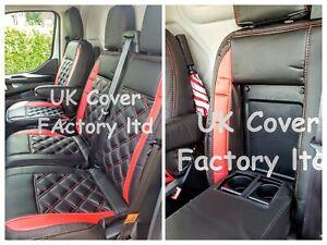 ready in stock!! FORD TRANSIT CUSTOM  VAN SEAT COVERS RED BENTLEY WATERPROOF A23