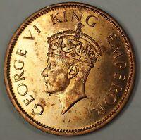 1940 C British India 1/4 Quarter Anna George Vth Coin BU UNC