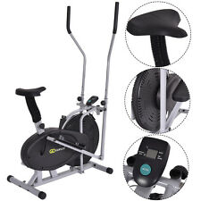 2 IN 1 Elliptical Fan Bike Cross Trainer Machine Exercise Workout Home Gym