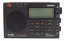 Used Tecsun PL-660 Portable AM/FM/LW/Air Shortwave World Band Radio Black