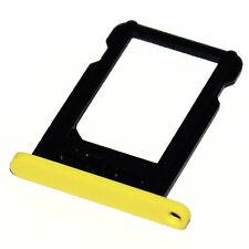 Apple iPhone 5c nano-SIM slot tray Halter Schacht card holder Schlitten gelb