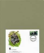 TIMBRE FDC  3 WWF ANIMAUX SINGES GORILLES NIGERIA/WWF STAMPS FDC ANIMALS MONKEYS