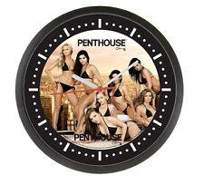 Penthouse Wanduhr Batteriebetrieb, schwarzer Rand, mit Sexy Motiv!