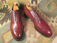 NEW JOHNSTON & MURPHY ARISTOCRAFT WING TIP CHISEL-TOE SIZE12C/A made in USA