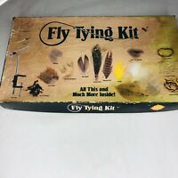 Vintage Fly Tying Tools Feathers Vise Kit