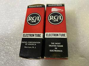 NOS RCA German 6922 Gold Pin (Balanced Pair) Tubes