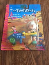 Flintstones Action Figurines Bamm-Bamm With Dino New # 50322 Dated 1992