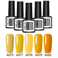 5 Bottles Yellow Colors Nail Gel Polish Kit Set UV LED Lamp Gel Varnish 8ml