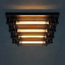 4-light Industrial Steampunk Flush Mount Ceiling Light Vintage Loft Ceiling Lamp