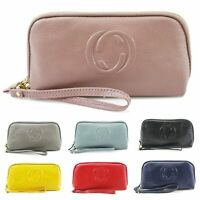 Ladies Wrist Leather Purse Women's Real Leather Clutch Wallet Purse New UK