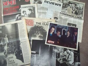 The Clash Joe Strummer c100 Cuttings collected over 40+ years