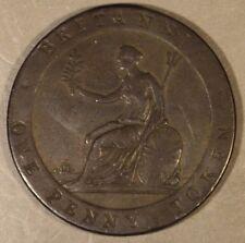 1813 Great Britain Stockton Penny Token Bridge over Tees** Free U.S. Shipping **