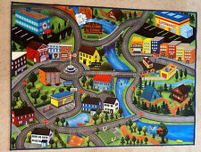 City Roads Children's Play Carpet 46�x61� With Non-slip/Rubberized Backing