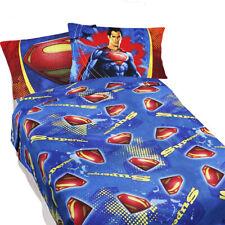SUPERMAN BED SHEETS - DC Comics Super Steel Blue Superhero Bedding Accessories