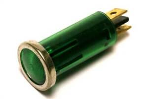 Small Green Instrument/Dash Warning Light - Green 12V 1.5W (GE333G)