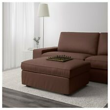 Ikea Kivik footstool with storage REPLACEMENT COVER Only Borred dark brown NEW