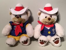 1988 Calgary Winter Olympic Hidy Howdy Cowboy Mascot Plush Toy Teddy Polar Bears