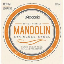 D'Addario EJS74 Mandolin Strings, Phos/Brz, Stainless Steel, 11-40