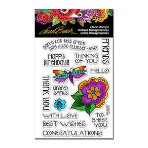 LAUREL BURCH Greetings CLEAR Unmounted Rubber Stamp Set STAMPENDOUS SSCL103 New