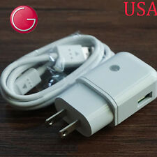 Quick Charge 2.0 US Travel Fast Charger Adapter Cable For LG V10 White