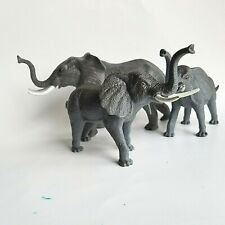 3 Elephant Plastic Trunks Up Toys Animal Africa Herd Decoration