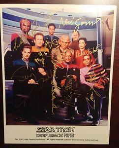 Star Trek: Deep Space Nine Autographed Cast Photo—All 9 MAIN CAST MEMBERS