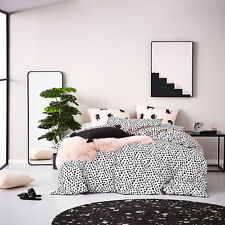 NEW 3pc HOME REPUBLIC SUPER KING BED QUILT COVER + PILLOWCASES PINK / BLACK DOTS