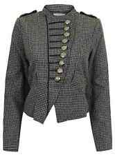 LADIES NEW WOMENS MILITARY STYLE TUNIC BUTTON COAT JACKET NEW STYLISH FITTED