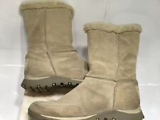 Skechers Womens Boots Suede Leather Faux Fur Lined Outdoor Winter Boot 9.5