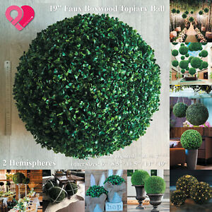 """Artificial Topiary Ball Boxwood Sphere Faux Tree Plant Wedding Party Decor 6""""19"""""""