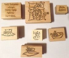 Stampin' Up 2002 (Set of 7 Stamps) Going Out in Style