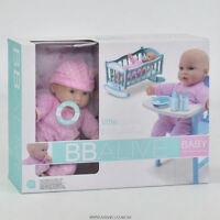 Early Learing Doll Play Set With High Chair & Accessories - Free Delivery