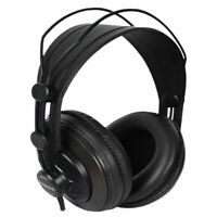 Headphones 30000Hz 3.5mm 98dB Wired HiFi Headset Studio Leather Earcup Monitor